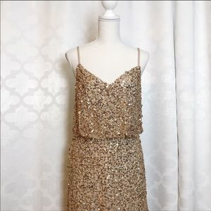 Adrianna Papell Dresses - Adrianna Papell Gold Sequin Dress